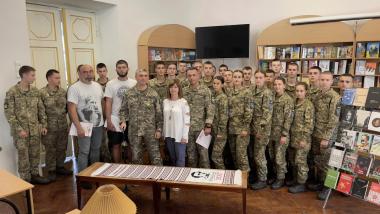 """""""Військо Читає"""" тепер і у військовому ліцеї імені І.Богуна"""